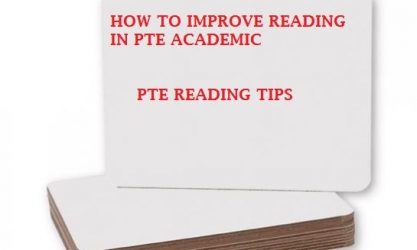 How to improve reading in PTE Academic exam