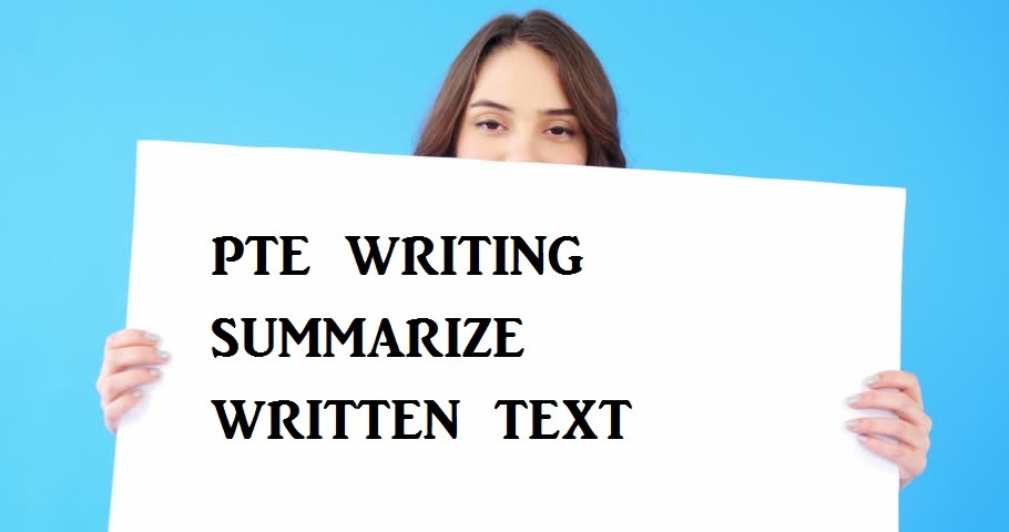 summarize written text scoring