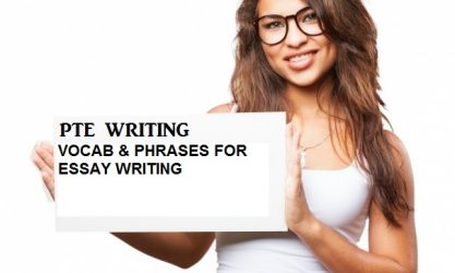 Vocabulary & phrases for PTE Academic essay writing