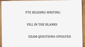 blanks exam question